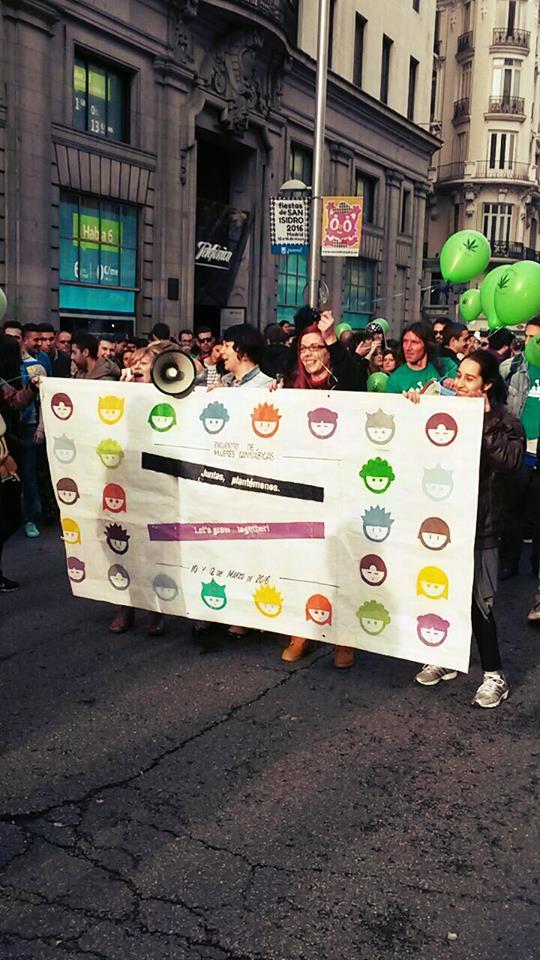 Las mujeres Cannábicas presentes en la Marcha mundial de la Marihuana en Madrid
